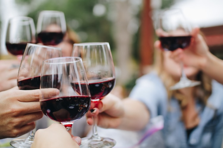 red wine - food and drinks to make having a uterus easier