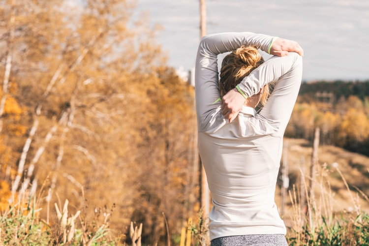 healthy lifestyle women stretching