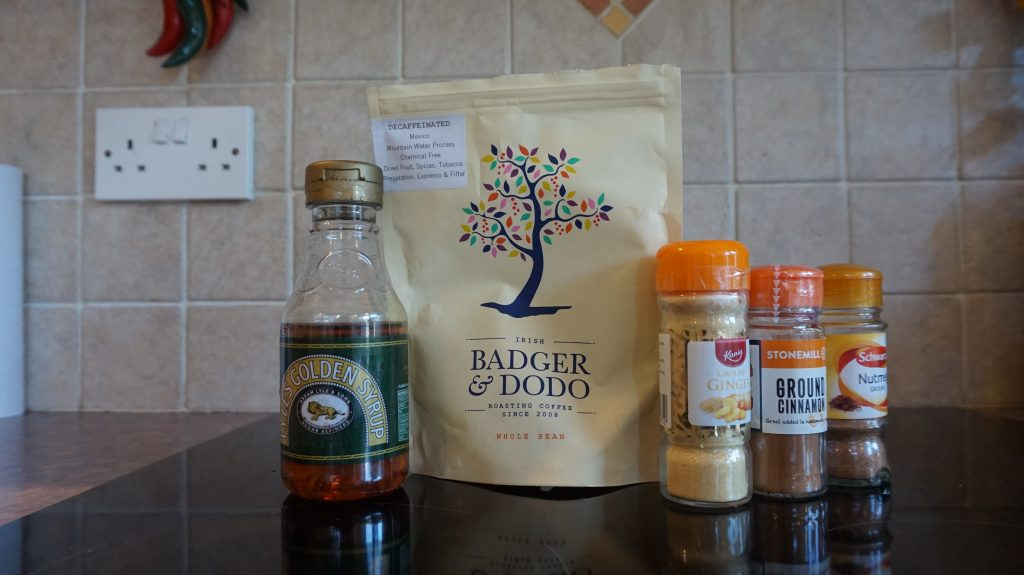 ingredients for homemade vegan gingerbread lattes